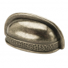 Antique Pewter Hammered Effect Cup Handle
