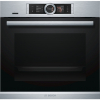 Bosch HRG6769S6B Built In Pyrolytic Single Electric Oven with Added Steam