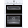Neff U14M42W5GB Built In Double Electric Oven, White