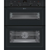 Neff U17M42S5GB Built Under Double Electric Oven, Black