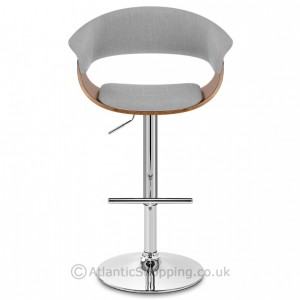 Grafton Stool Walnut  & Grey Fabric blog image