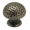 Antique Pewter Hammered Effect Knob