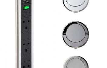 PULL UP SOCKET WITH USB PORTS