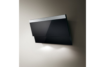 Elica Evita 80cm Black Glass Angled Extractor
