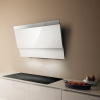 Elica Evita 80cm White Glass Angled Extractor