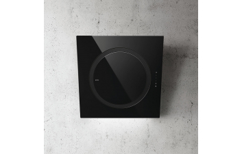 Elica IO Air 75cm Black Glass Angled Extractor