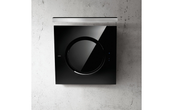 Elica IO 80cm Black Glass Angled Extractor