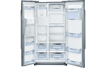 Bosch KAI90VI20G American-Style Fridge Freezer, Stainless Steel EasyClean Door & Grey Side Panels