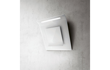 Elica Leaf 80cm White Glass Angled Extractor