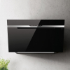 Elica Majestic Sense Black Glass Angled Extractor