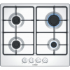 Bosch PGP6B2B60 4 Burner Gas Hob, Front Control, White