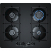 Bosch PNP6B6B80 4 Burner Gas Hob, Tempered Black