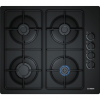 Bosch POP6B6B80 4 Burner Gas Hob, Side Control, Black