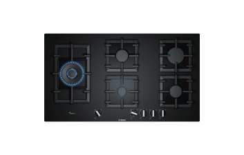 Bosch PPS9A6B90 5 Burner Gas Hob, Tempered Glass, Wok To Side