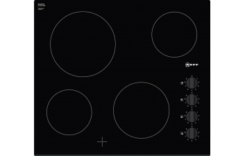 Neff T16FK40X0 4 Zone Ceramic Hob with Knobs