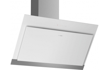 Bosch DWK97HM20B 90cm White Glass Angled Extractor