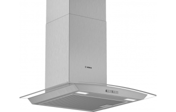 Bosch DWA64BC50B 60cm Curved Glass Stainless Steel Extractor