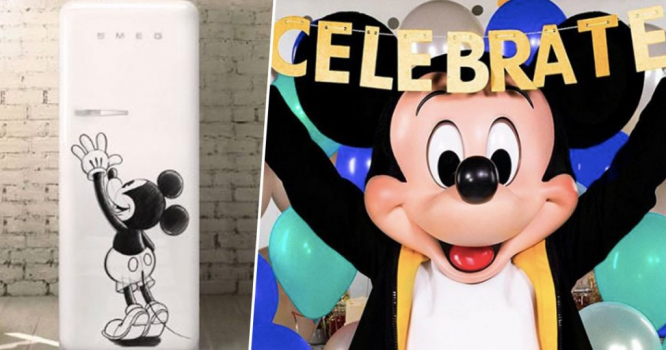 Smeg Limited Edition Mickey Mouse Fridge
