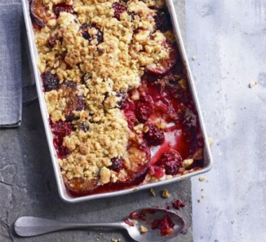 Spiced Plum & Blackberry Crumble Recipe