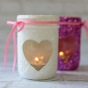 14th February Valentine's Day DIY Glittery Votive Candle Holders