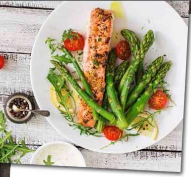 Neff Grilled Salmon,Herb Butter,New Potatoes And Asparagus Recipe