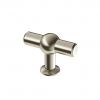 traditional flute brushed nickel knob