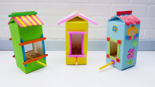 Craft Project For Children To Make A Bird Feeder At Home