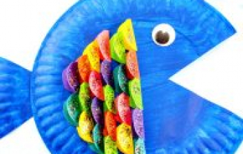 Fun Fish Paper Plate Childrens Craft Idea To Make In The Summer Holidays